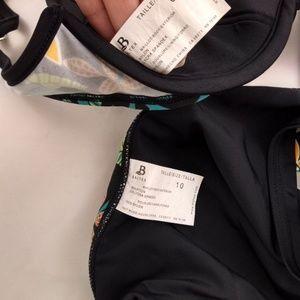 Baltex Swim - Baltex Size 8/10 Bikini Swimsuit 2pc Green Black